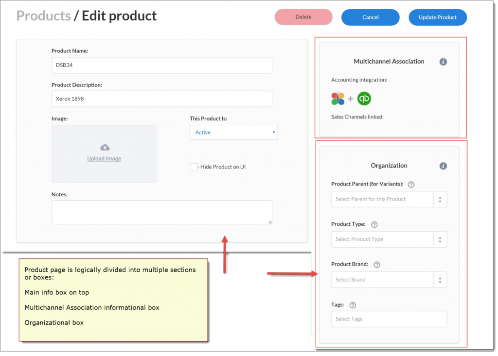 How to edit product details